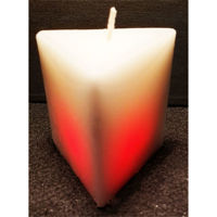 Picture of Colour changing prism candle - 7,5cm (L) x 7,5cm (W) x 7cm (H)