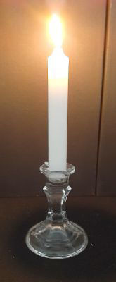 Picture of Candle holder - Glass dinner candle holder - 8cm (D) x 10cm (H) OUT of STOCK