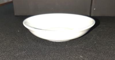 Picture of Candle holder - White ceramic round - 10cm (D) x 2.5cm (H)