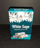 Picture of Wellness Mantra backflow incense - White sage