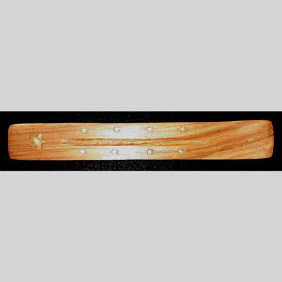 Picture of Incense burner - Flat brass stars inlay