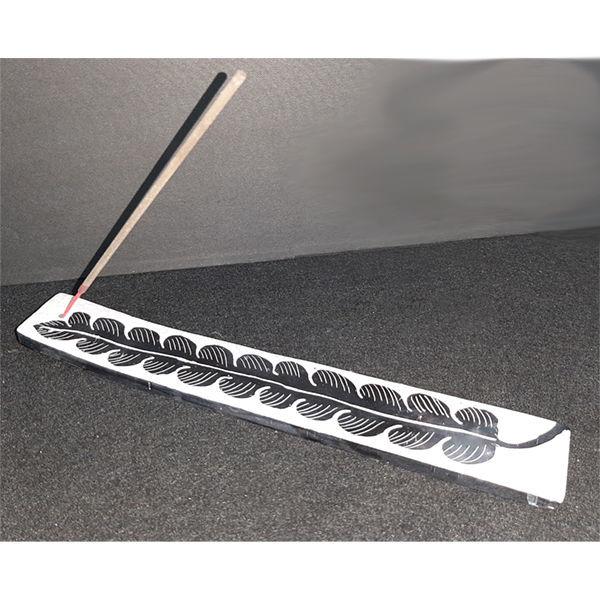 Picture of Incense burner - Flat soapstone leaf design