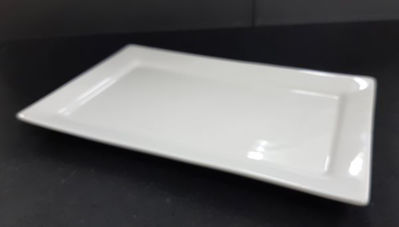 Picture of Candle holder - White ceramic - 25.5cm (L) x 16cm (W) x 2cm (H)