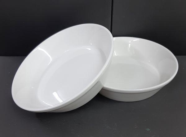 Picture of Candle holder - White ceramic round - 14cm (D) x 3.5cm (H)