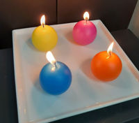 Picture of Candle holder - White ceramic square - 21cm (L) x 21cm (W) x 1.5cm (H)