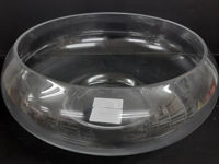 Picture of Candle holder - Glass round dish 10x25cm