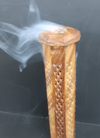 Picture of Incense burner - Ash tower wood - octagon