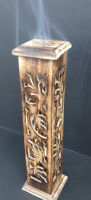 Picture of Incense burner - Ash tower wood - square