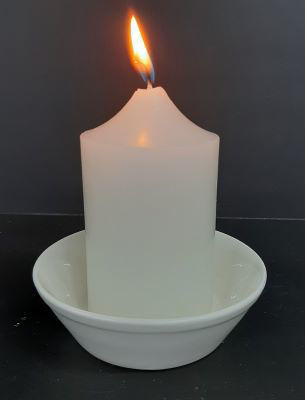 Picture of Candle holder - ceramic round 10.5cm