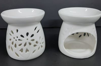 Picture of Oil burner - White flower cut outs- OUT of STOCK